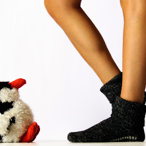 To my Feet by Ada Panich - Artistic Objects Other Objects ( leg, puppet, socks )