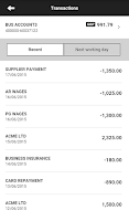 Screenshot of HSBC Business Mobile