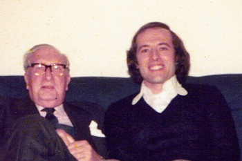 With William Walton, at home, 1974 (1)