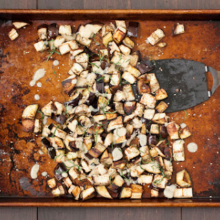 Roasted Eggplant with Miso Dressing