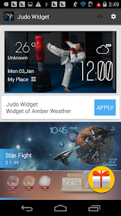 judo weather widget/clock - screenshot