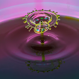 prismatic interpolation of cosmic carthis by Domingo Washington - Abstract Water Drops & Splashes ( waterdroplet )