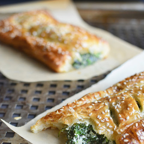 Spinach Puff Pastry Rolls with Feta and Ricotta