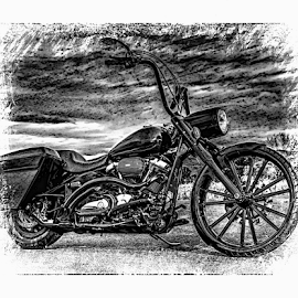 Black Bike 101018 by Anthony Balzarini - Digital Art Things ( #bigwheel, #yamaha, #motorcyclephotography, #blackmotorcycle )