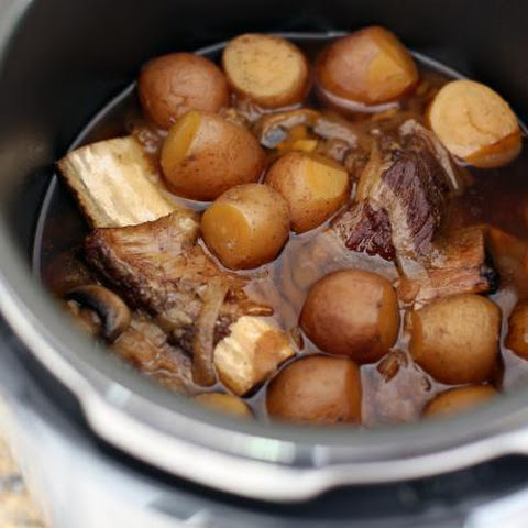 Pressure Cooker Porcini And Tomato Beef Short Ribs Recipe — Dishmaps
