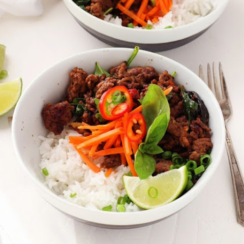 30 Minute Thai Beef with Chiles and Basil