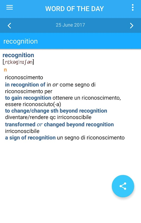 Collins Italian Dictionary Screenshot 4