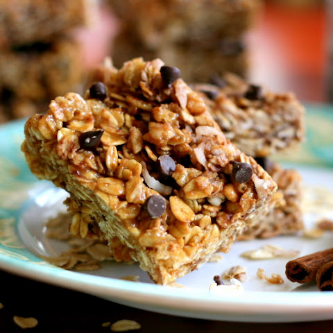 Chewy Biscoff Granola Bars