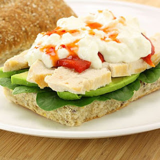 Cottage Cheese & Grilled Chicken Roll
