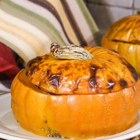 Baked Stuffed Pumpkin With Meat