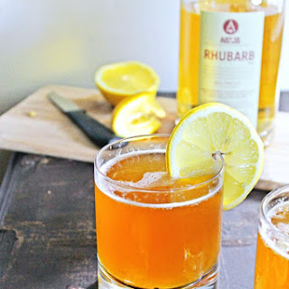 RHUBARB lemon shandy cocktail