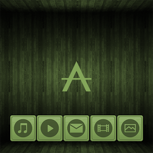 Cover art Wooden Icons Green XZ Theme