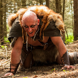 Unleashed by Russell Mander - People Portraits of Men ( blood thirsty, slobber, warrior, woods, viking,  )