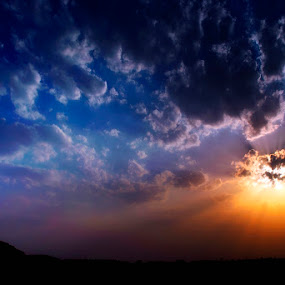 Devine Rays by Fotosutra - a PRASANTA SINGHA photography - Landscapes Sunsets & Sunrises