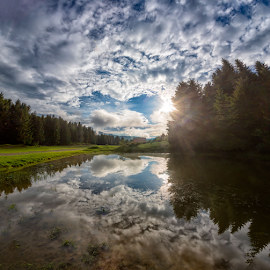 Mountain pond in the Spring by Stanislav Horacek - Landscapes Weather