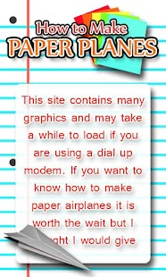 How to Make Paper Planes - screenshot