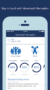 Monmouth Recreation Fitness app screenshot for Android
