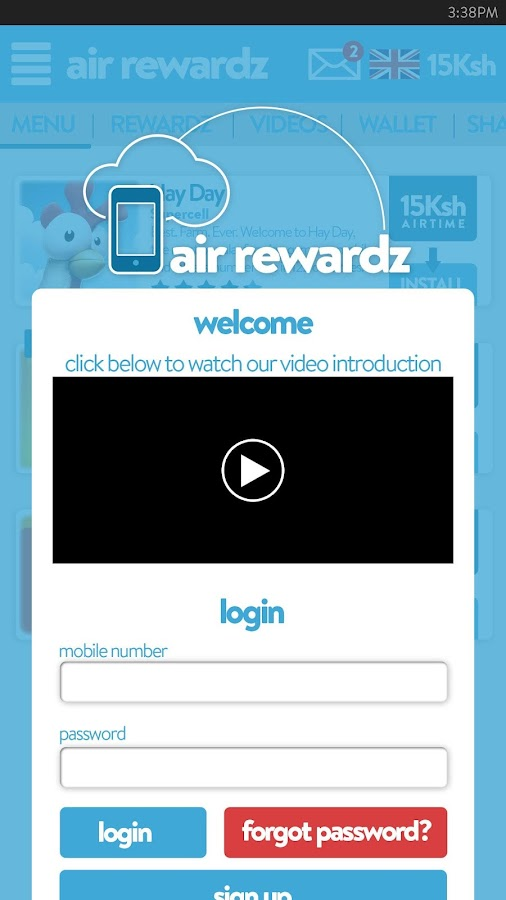 Air Rewardz Screenshot