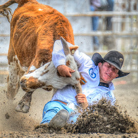 by Jimmy Rash - Sports & Fitness Rodeo/Bull Riding ( finals, high school, 2015, nebraska high school rodeo finals, rodeo, nebraska, adams county fair grounds, nebraska high school rodeo )