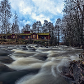 by Bojan Bilas - Landscapes Waterscapes ( europe, waterscape, fine art, finland, architecture, landscape, eurajoki, winter, nature, suomi, rapids, long exposure, rocks, eura, river )