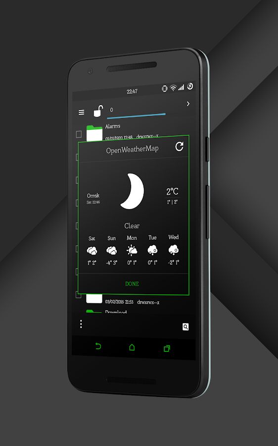 Sense Black/Green cm13 theme Screenshot 15