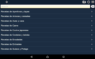 Screenshot of Recetas de Cocina Gratis