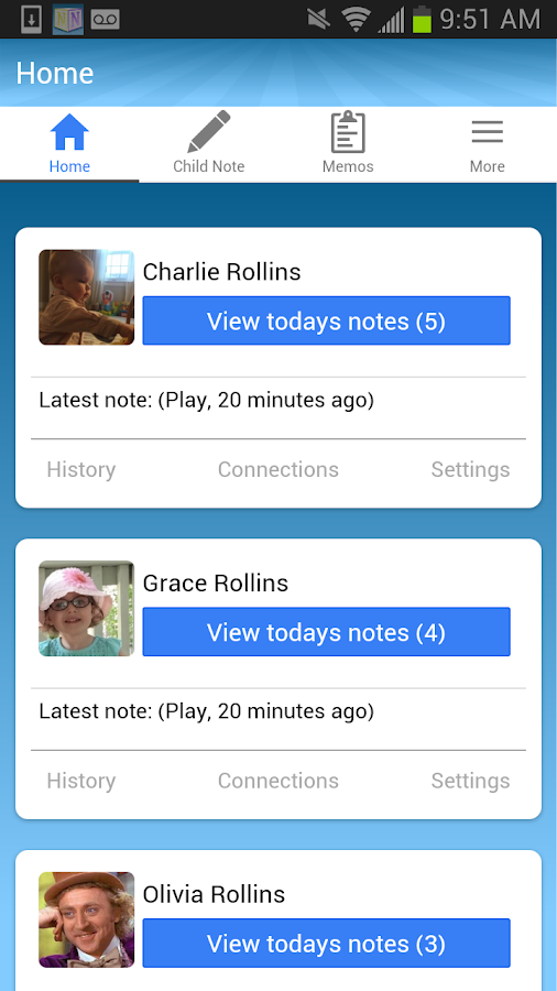 NannyNotes - Child Daily Sheet Screenshot