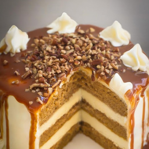 Apple Cider Spice Cake with Salted Caramel Drizzle