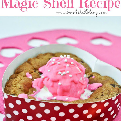 Colorful Magic Shell Recipe & Gluten Free Sweetheart Pizzookies