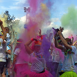 Color Fun ! by Marco Bertamé - Sports & Fitness Other Sports ( 2015, colors, dust, the color run, fun, echternach, luxembourg )