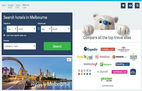 Melbourne Hotel Booking - screenshot