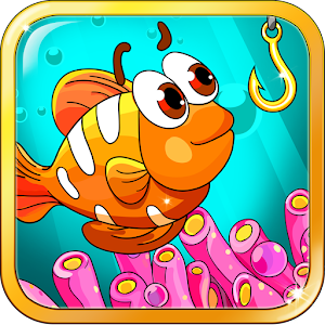 Unusual and colorful fishes, the cat-fisherman in the game - Baby's Fishing APK Icon