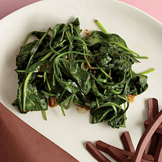 Steamed Spinach with Curry Butter