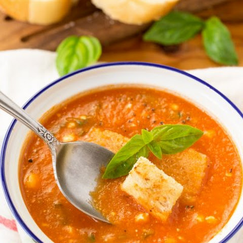 Tomato Basil Soup with Feta