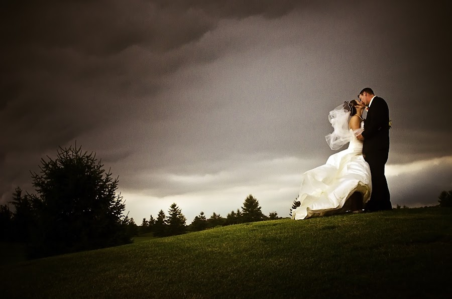 by Nicole DeJoseph - Wedding Bride & Groom ( clouds, love, wedding, storm, bride, groom )