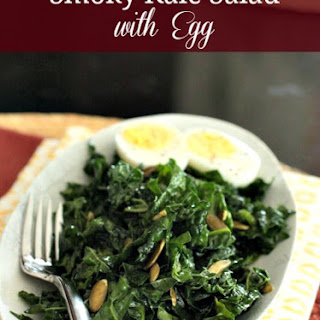 Smoky Kale Salad with Toasted Almonds & Egg