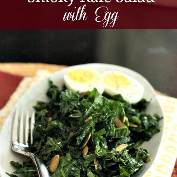 Smoky Kale Salad with Toasted Almonds & Egg