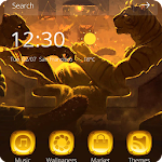 Tiger theme Dim huts leopard Icon