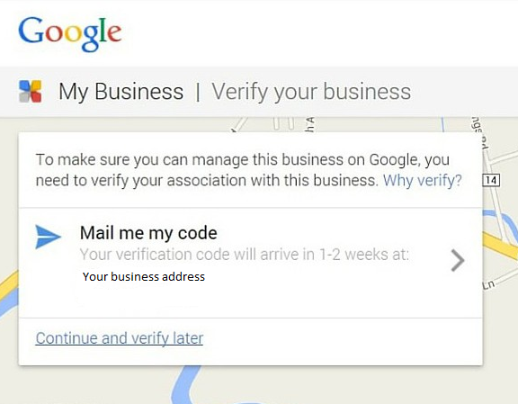 verify your business with the code