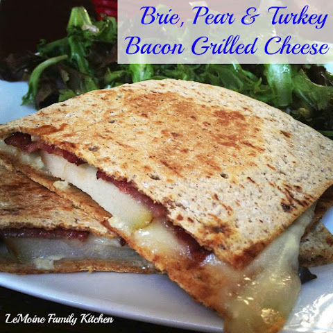 Brie, Pear & Turkey Bacon Grilled Cheese