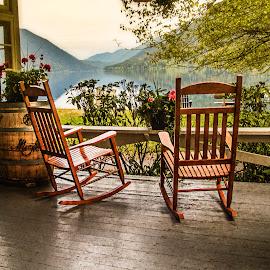 Two Rockers by Richard Michael Lingo - Artistic Objects Furniture ( artistic objects, furniture, rocking chairs, washington, lake,  )