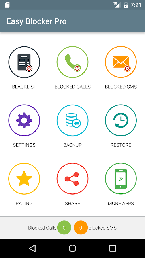 Call and SMS Easy Blocker Pro Screenshot 0