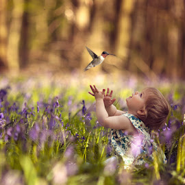 Ivy & the Hummingbird by Claire Conybeare - Chinchilla Photography - Babies & Children Babies