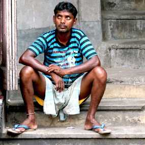 Almighty look at me by Protim Banerjee - People Portraits of Men ( candid, men, frustration )