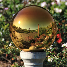 Mirror Globe by Margie Troyer - Artistic Objects Other Objects