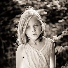 Zlil by Holger MC - Babies & Children Child Portraits ( child, holgermc, sepia, girl, b&w, black and white, naturlichtkinder, moody, portrait )