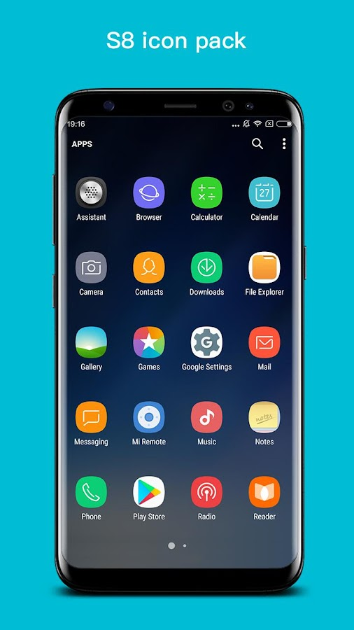 S+ S8 Launcher - Galaxy S8 Launcher, Theme Screenshot 1