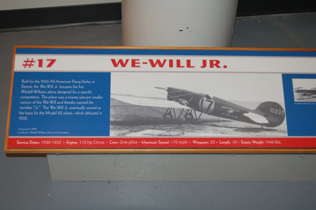 Built for the 1930 All-American Flying Derby at Detroit, the We-Will Jr. became the first Wedell-Williams plane designed for a specific competition. The plane was a twenty percent smaller version of ...