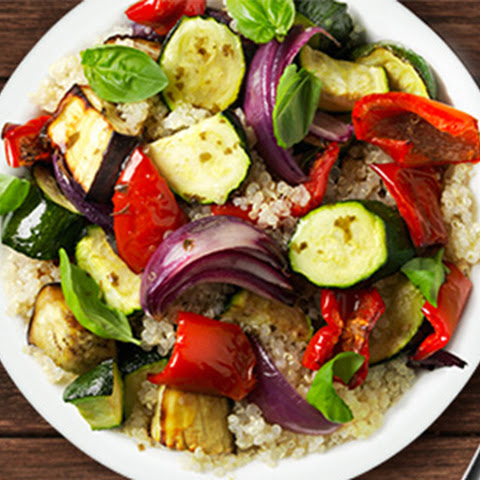 Roasted Summer Vegetables & Quinoa Salad