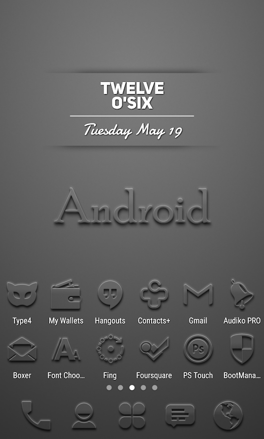 Embossed - Icon Pack Screenshot 0